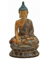 Boeddha beeldje bruin 26 cm