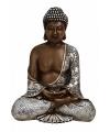 Boeddha beeldje bruin zilver 24 cm