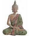 Boeddha beeldje groen bruin 20 cm