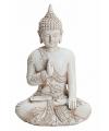 Boeddha beeldje wit 17 cm