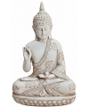 Boeddha beeldje wit 24 cm