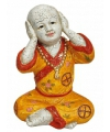 Boeddha beeldjes horen 16 cm