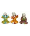 Boeddha beeldjes horen zien zwijgen