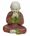 Boeddha beeldjes zwijgen 16 cm