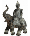 Boeddha met olifant beeld grijs 29 cm