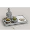 Boeddha zen tuintje met theelichtjes rechthoek