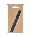 Bootnaam sticker leesteken schuine streep zwart 3 cm
