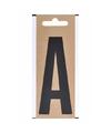 Bootnaam sticker letter a zwart 10 cm