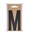 Bootnaam sticker letter m zwart 10 cm