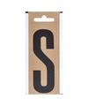 Bootnaam sticker letter s zwart 10 cm