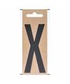 Bootnaam sticker letter x zwart 10 cm