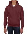 Bordeaux capuchon sweater voor jongens