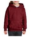 Bordeaux capuchon sweater voor meisjes
