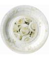 Bordjes met witte rozen 8 stuks