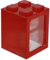 Bouwstenen spaarpot rood 11 cm
