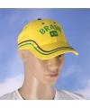 Brasil baseball cap geel