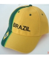 Brazilie baseballpet geel groen