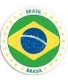 Brazilie sticker rond 14 8 cm