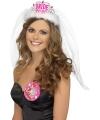 Bride to be tiara met sluier