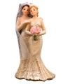 Bruidspaar taart decoratie 2 vrouwen