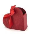 Bruiloft kado doosjes rood hart 10x