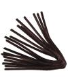 Bruin chenilledraad 50 cm