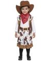 Bruin cowboy kostuum voor peuters