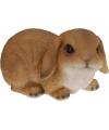 Bruin konijn stenen beeld 28 cm