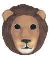 Bruin leeuwen masker voor kinderen