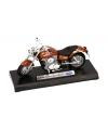 Bruin oranje kawasaki shadow speelgoed motor 11 cm