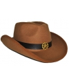 Bruine cowboyhoed vilt