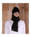 Bruine fleece sjaal met franjes