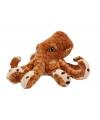 Bruine knuffel octopus 20 cm
