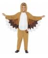 Bruine uil kostuum voor kinderen