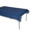 Buiten tafelkleed donkerblauw 220 x 140 cm