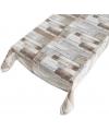 Buiten tafelkleed houten schrootjes motief140 x 240 cm