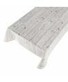 Buiten tafelkleed zeil hout grijs 140 x 240 cm