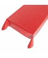 Buiten tafelkleed zeil polkadot rood 140 x 240 cm