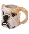Bulldog hond beker keramiek