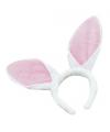 Bunny diadeem wit met roze