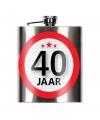 Cadeau 40 jaar heupfles 200 ml