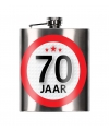 Cadeau 70 jaar heupfles 200 ml