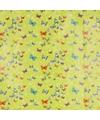 Cadeaupapier groen met vlinders 70 x 200 cm