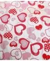 Cadeaupapier met overlappende hartjes
