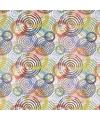 Cadeaupapier wit met gekleurde cirkels 70 x 200 cm