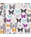 Cadeaupapier wit met vlinders