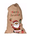 Cadeauzak kerstman jute 90 cm