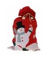 Cadeauzak sneeuwpop rood 97 cm