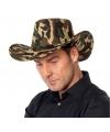 Camouflage cowboyhoed