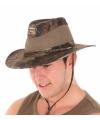 Camouflage fedora hoed voor heren